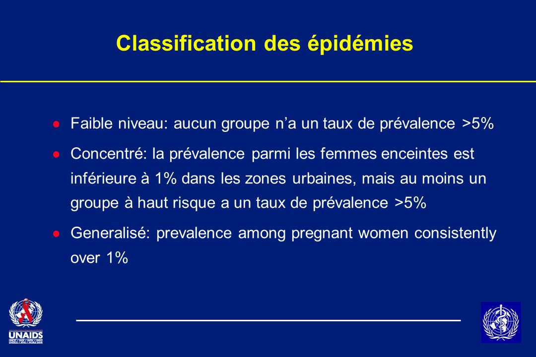 Classification des épidémies