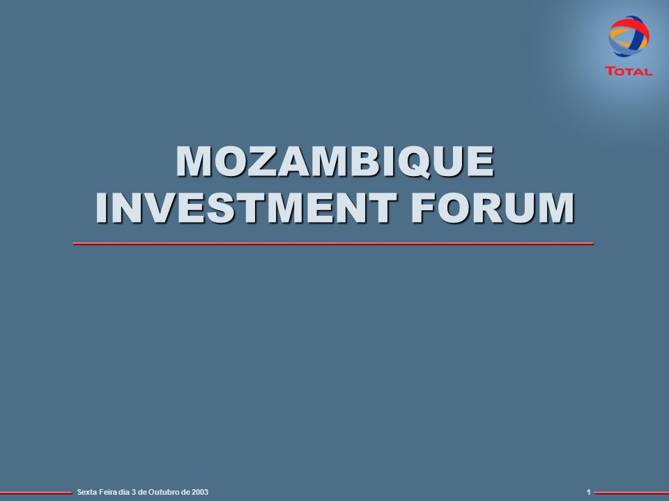 MOZAMBIQUE INVESTMENT FORUM