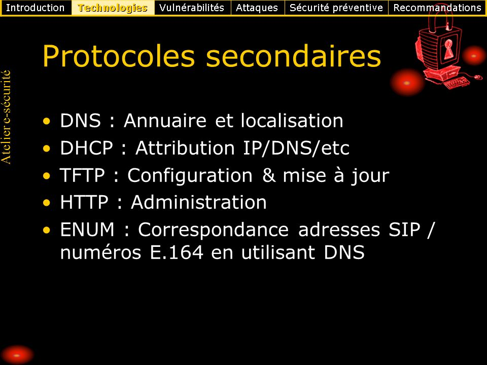 Protocoles secondaires