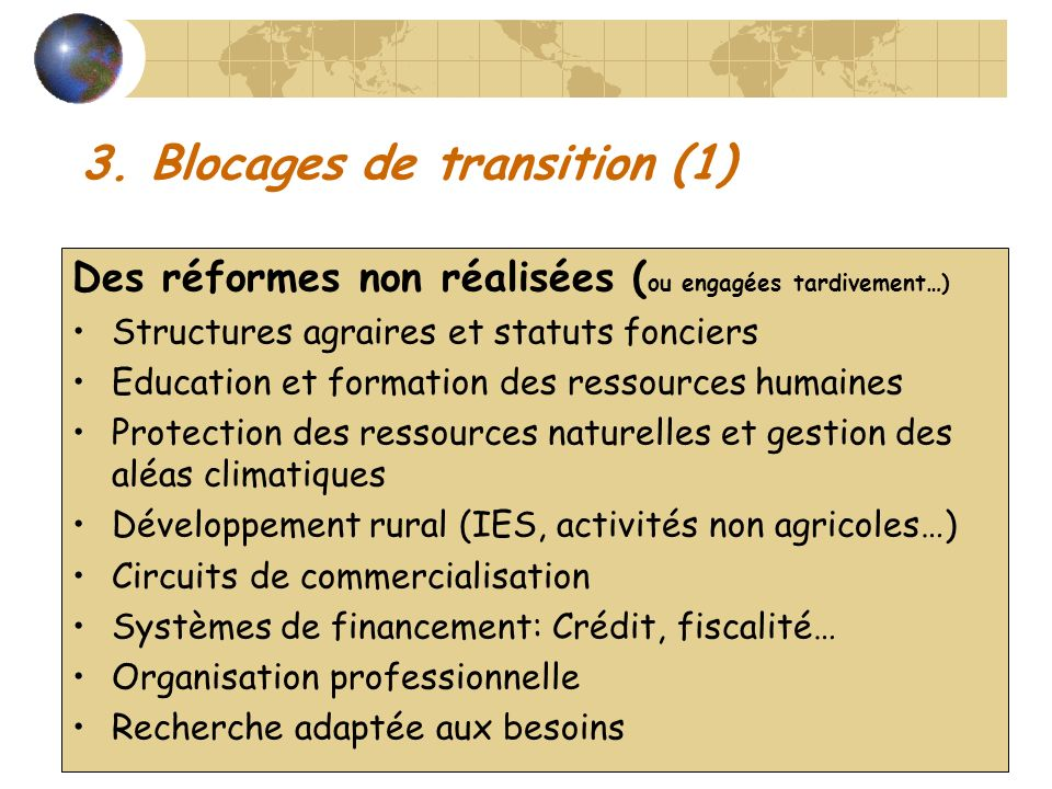 3. Blocages de transition (1)