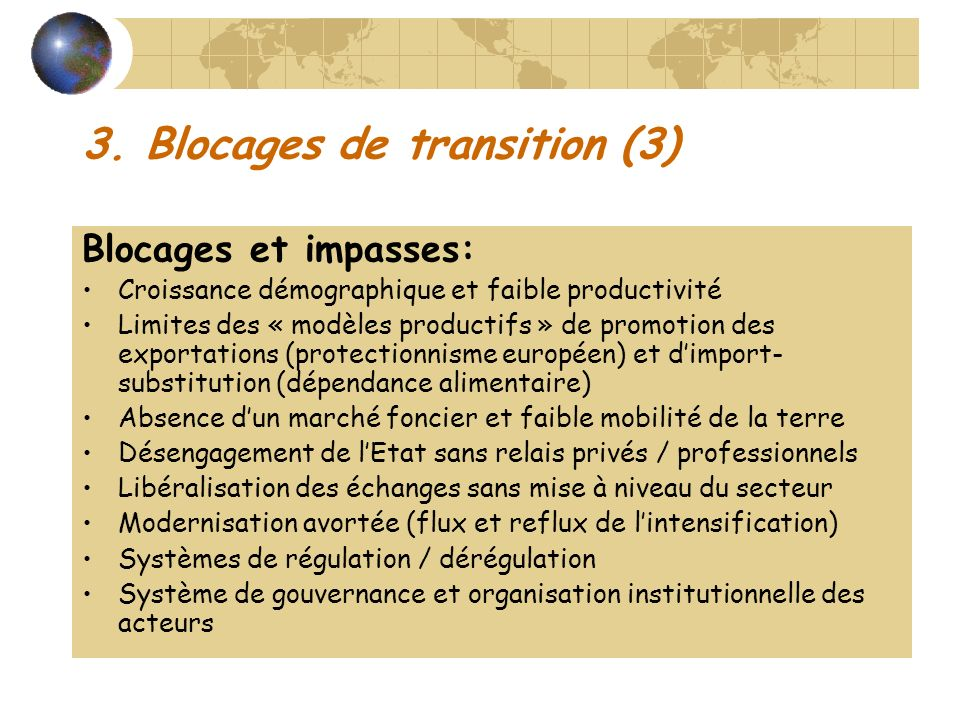 3. Blocages de transition (3)