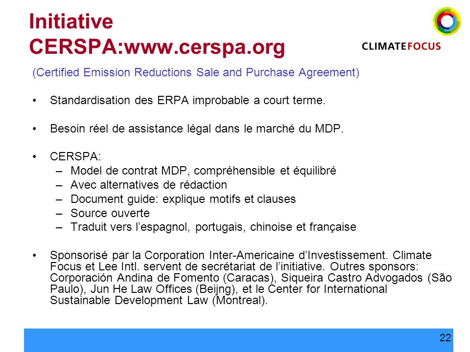 Initiative CERSPA:www.cerspa.org
