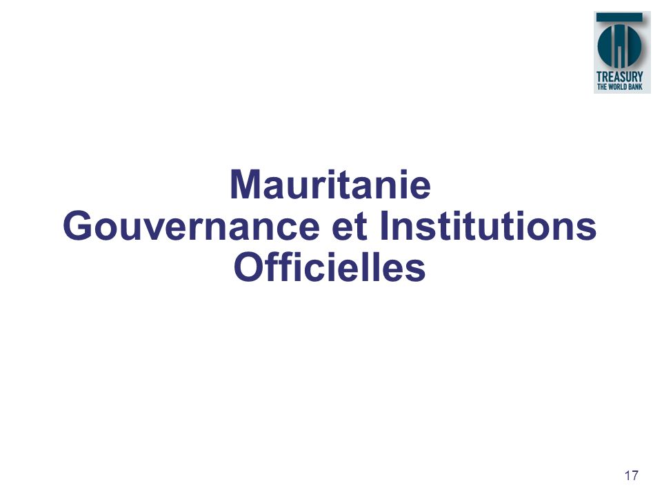 Mauritanie Gouvernance et Institutions Officielles