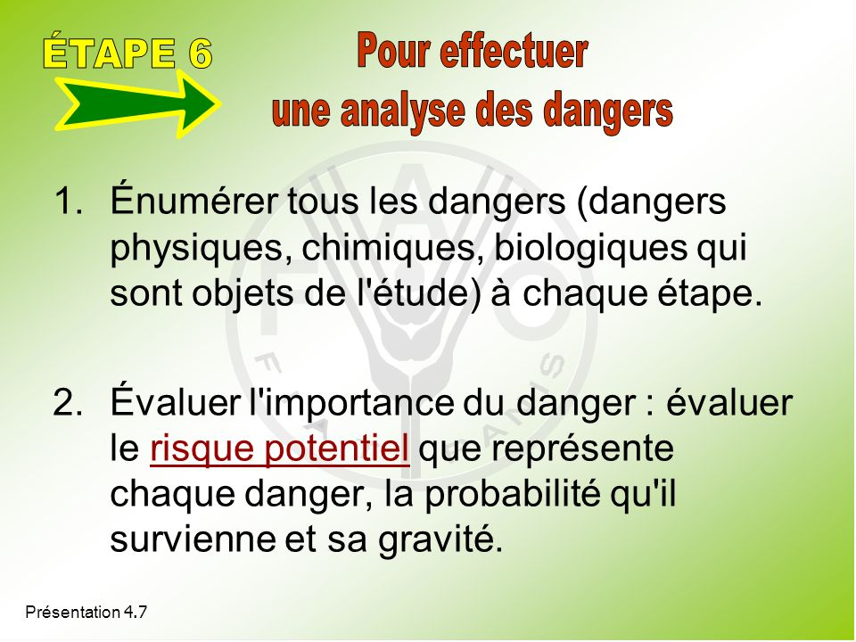 une analyse des dangers