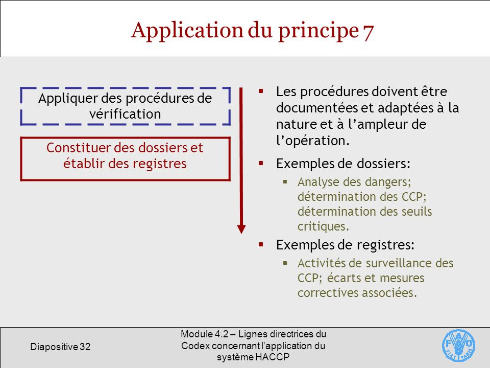 Application du principe 7