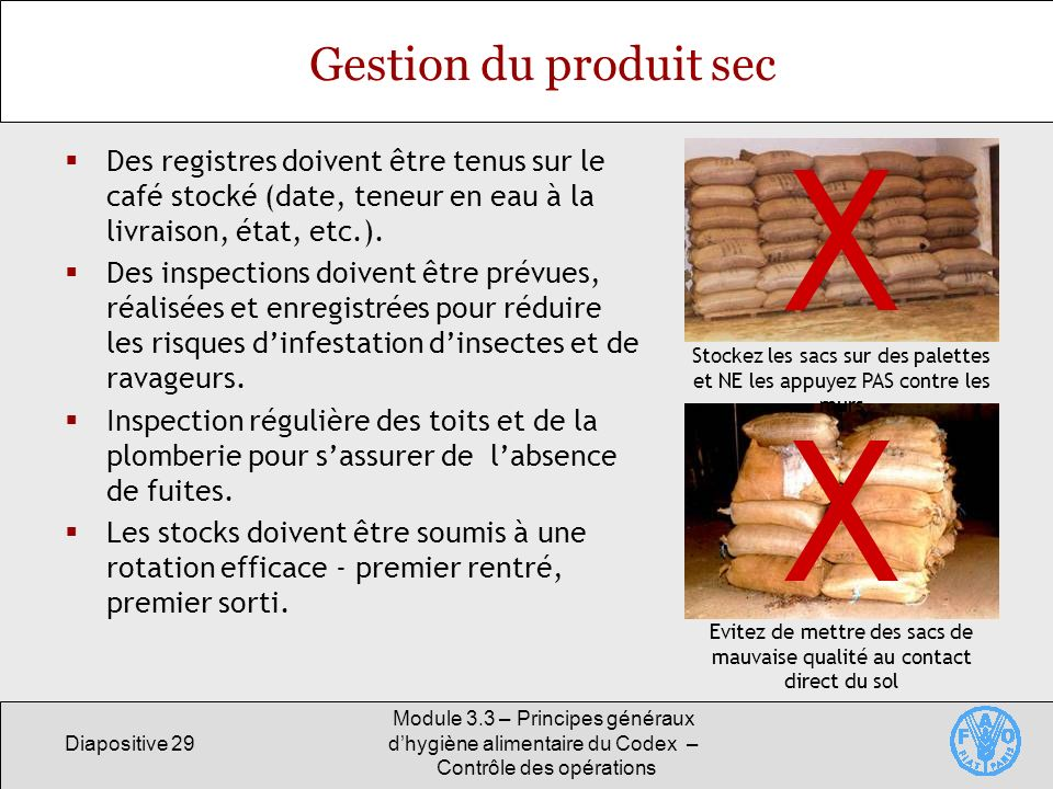 module 3 3 principes g n raux d hygi ne alimentaire du codex contr le des op rations ppt. Black Bedroom Furniture Sets. Home Design Ideas