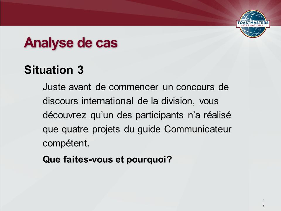 Analyse de cas Situation 3