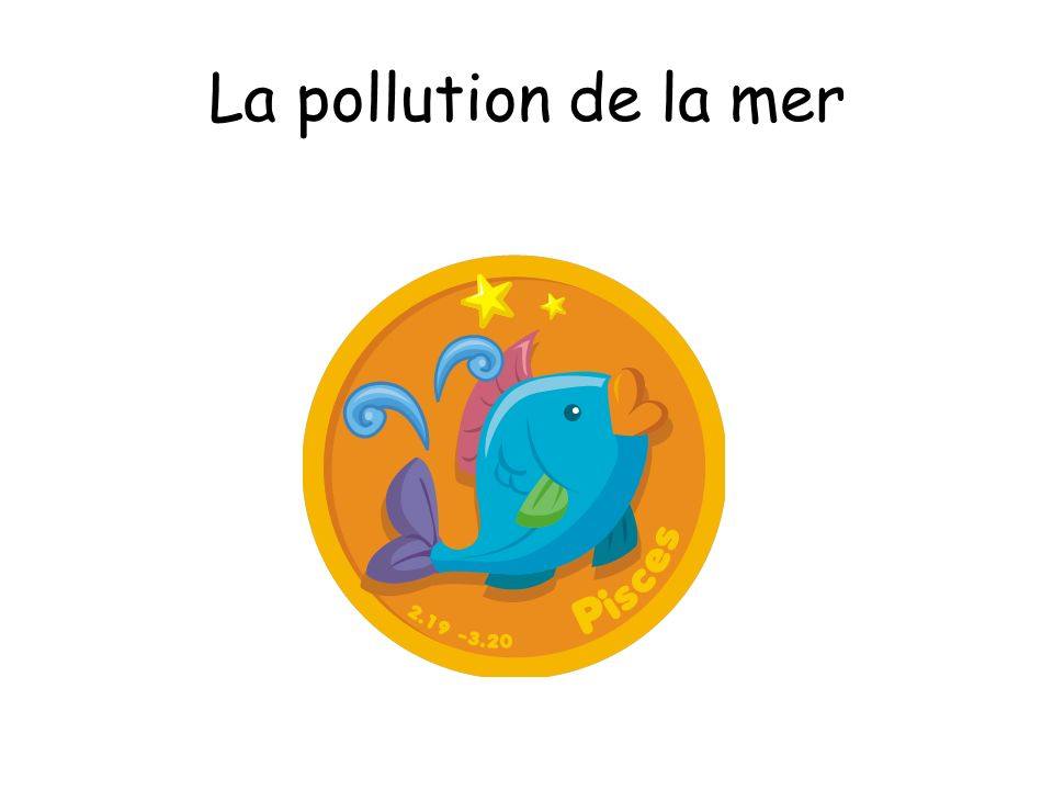 La pollution de la mer