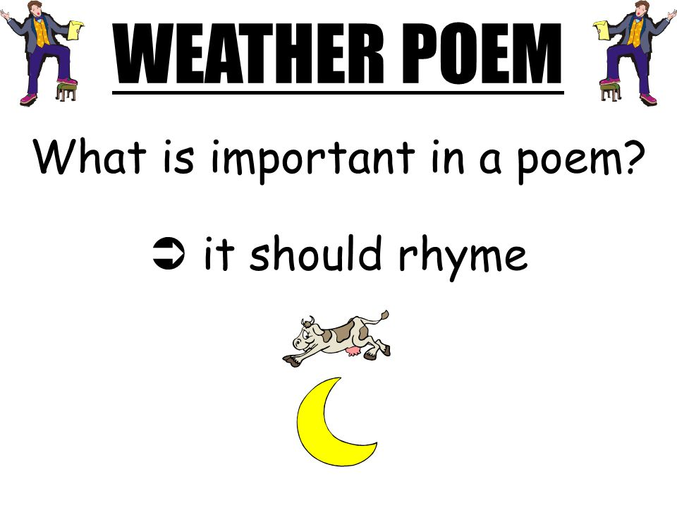 What is important in a poem