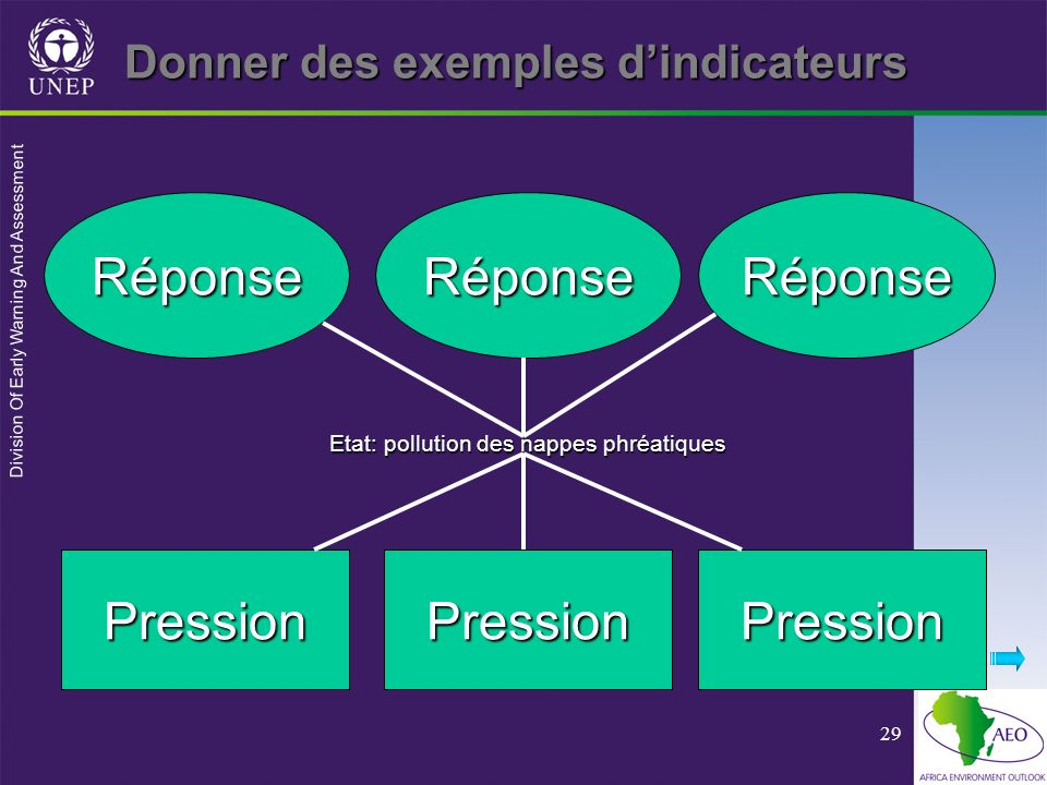 Donner des exemples d'indicateurs