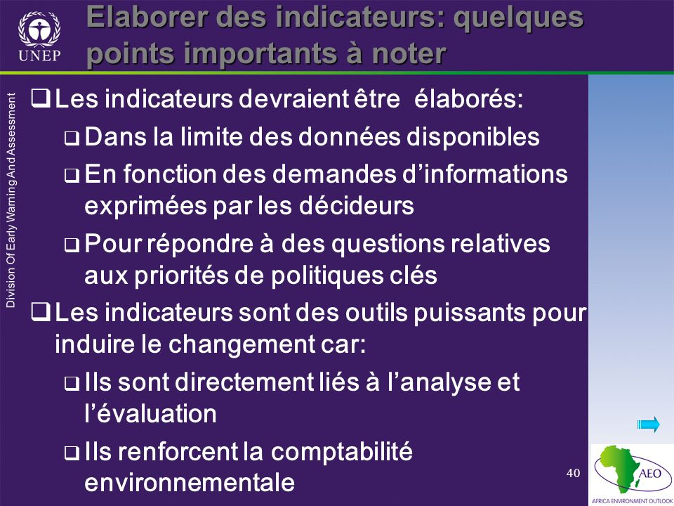 Elaborer des indicateurs: quelques points importants à noter