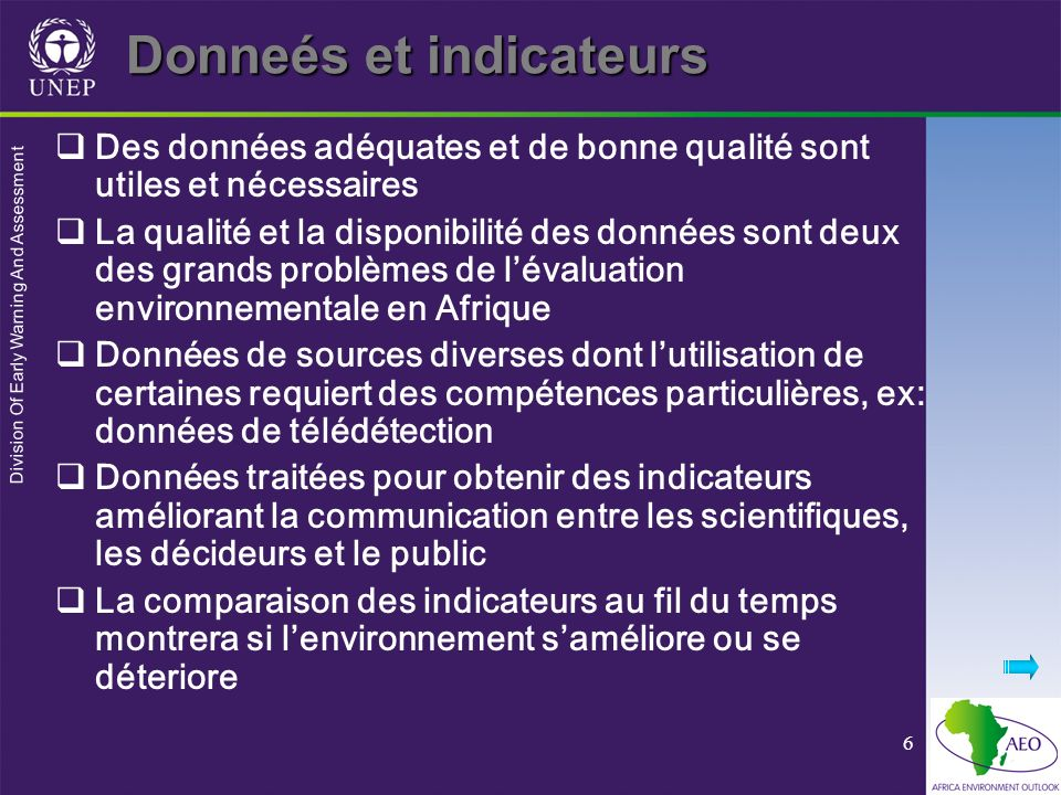 Donneés et indicateurs