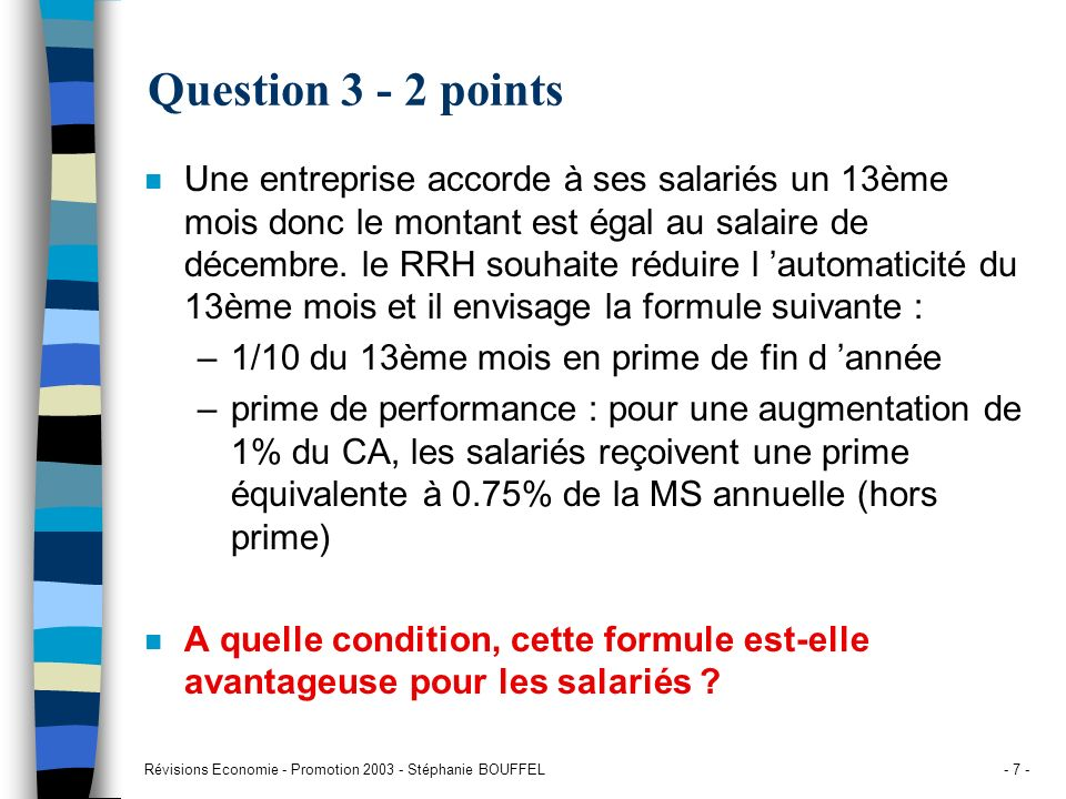 Question 3 - 2 points