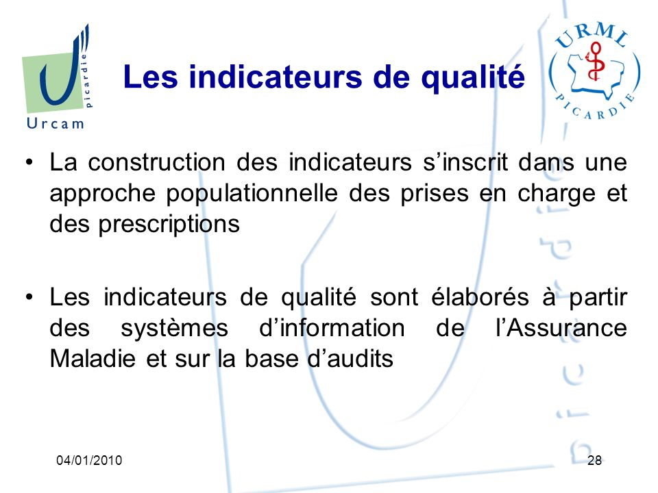 Les indicateurs de qualité