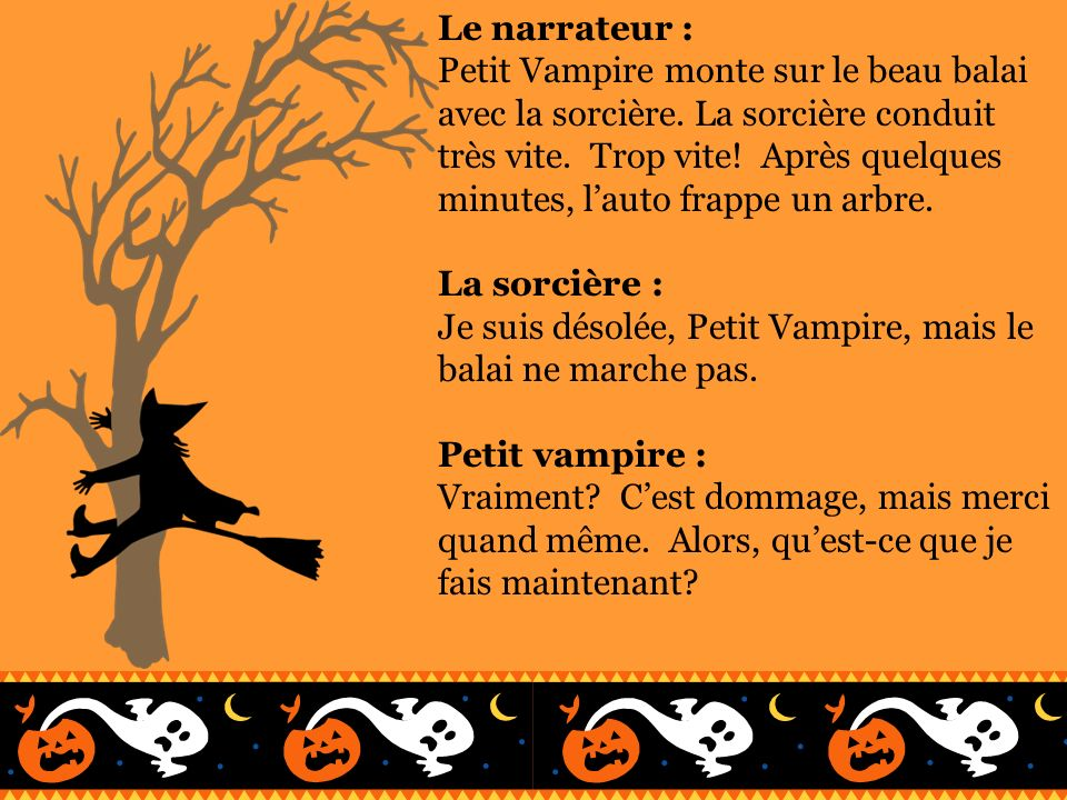 Le narrateur :