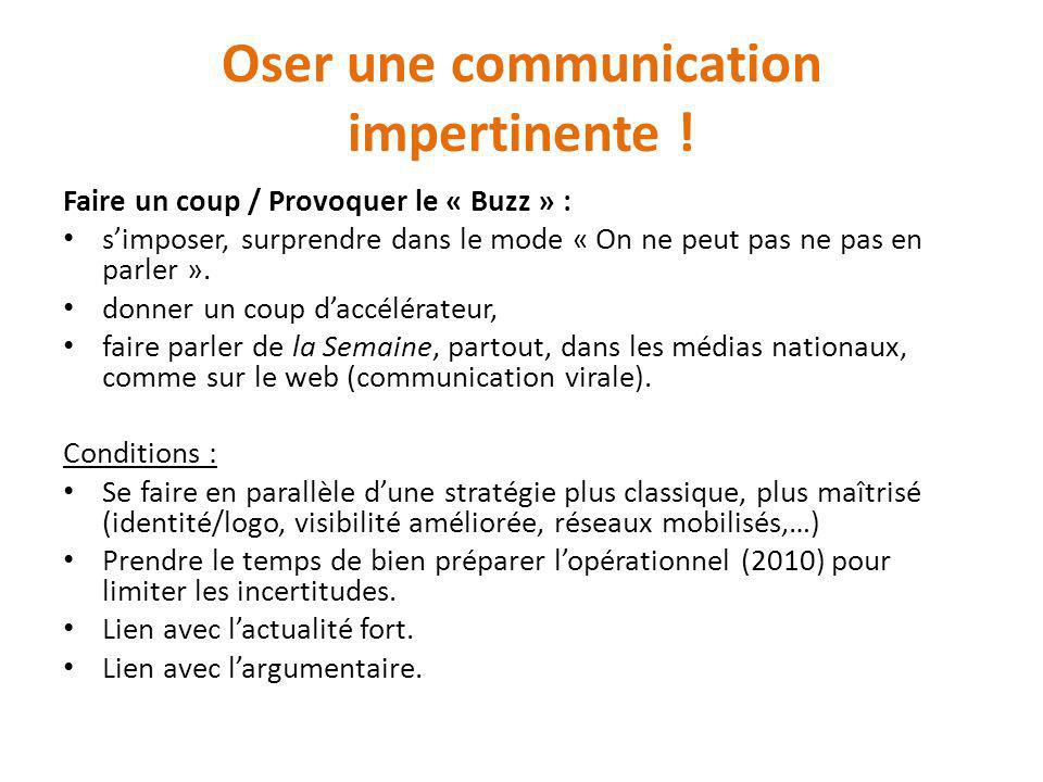 Oser une communication impertinente !