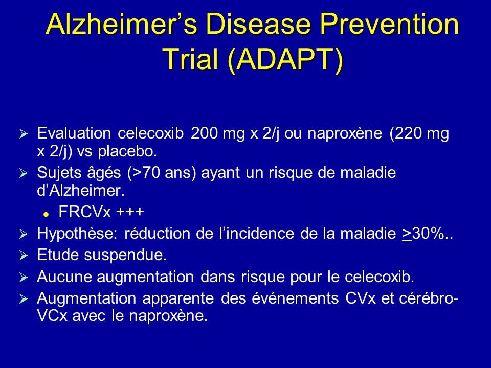 Alzheimer's Disease Prevention Trial (ADAPT)