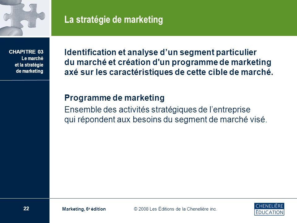 La stratégie de marketing