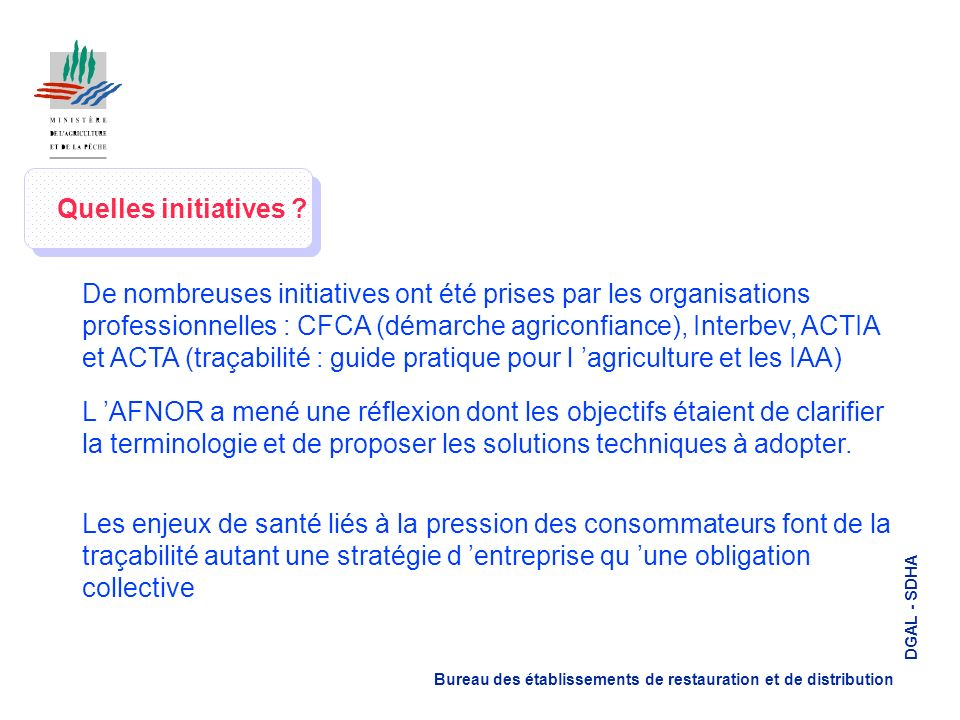 Quelles initiatives