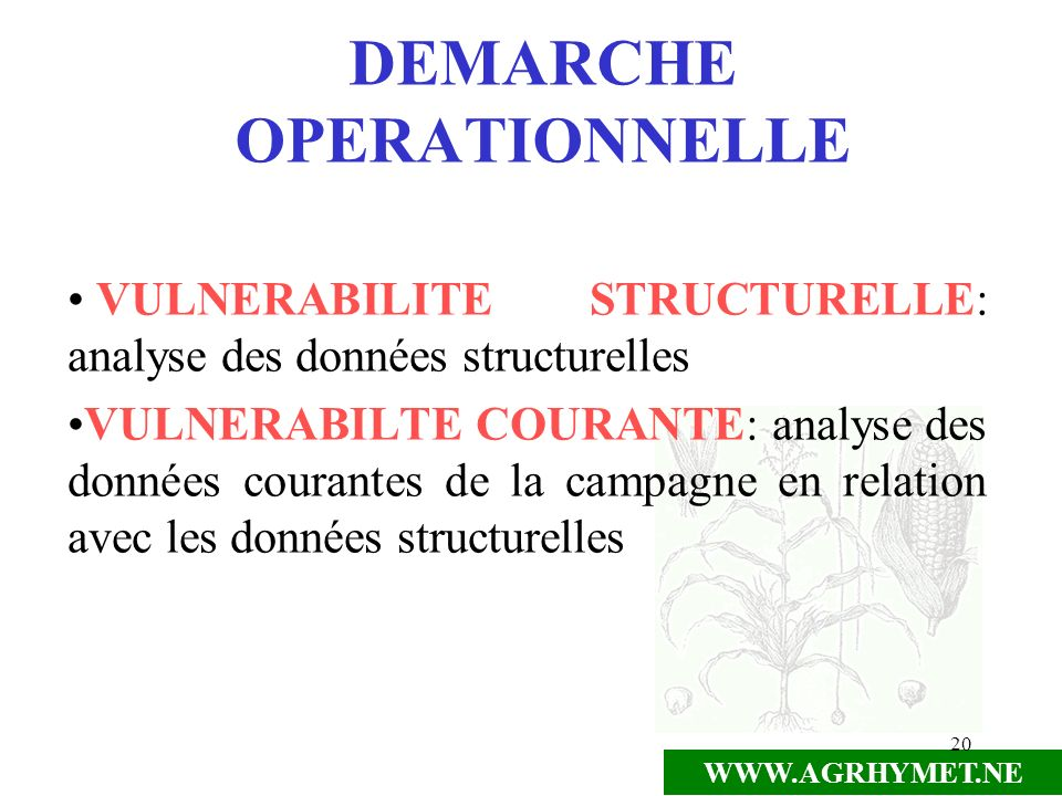 DEMARCHE OPERATIONNELLE