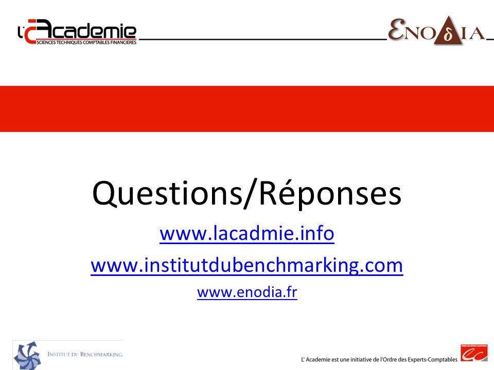 Questions/Réponses www.lacadmie.info www.institutdubenchmarking.com
