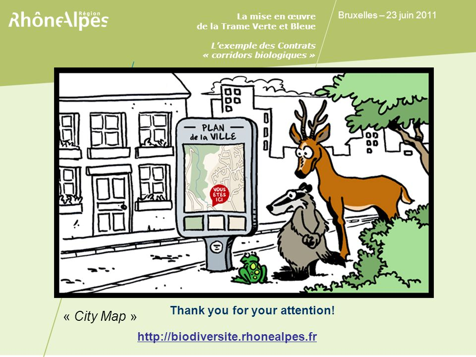 Conclusion « City Map » Thank you for your attention!