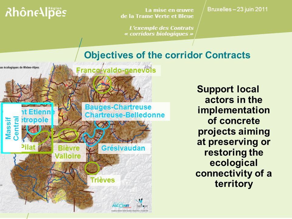 Objectives of the corridor Contracts