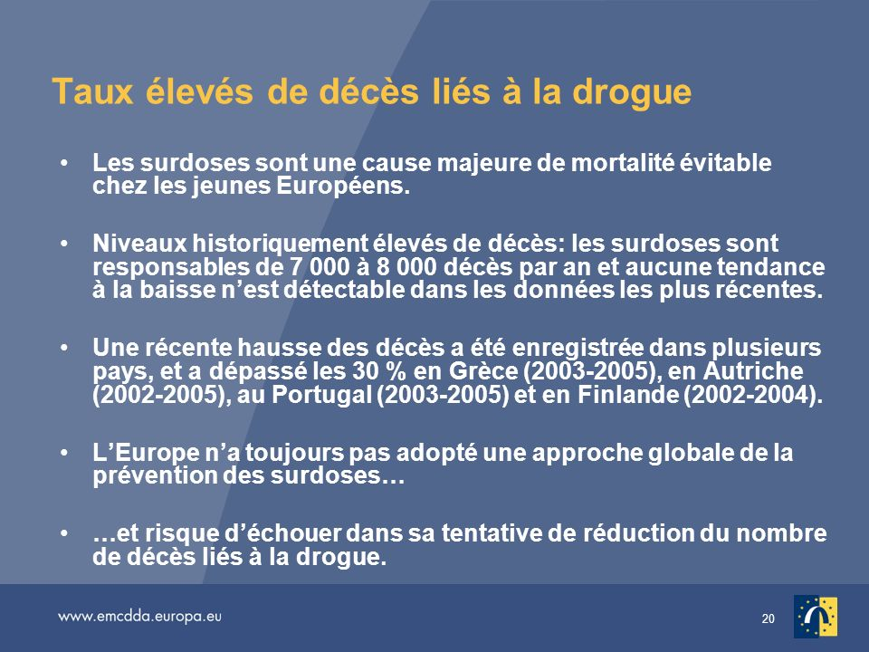 rapport annuel 2007 sur l tat du ph nom ne de la drogue en europe ppt t l charger. Black Bedroom Furniture Sets. Home Design Ideas