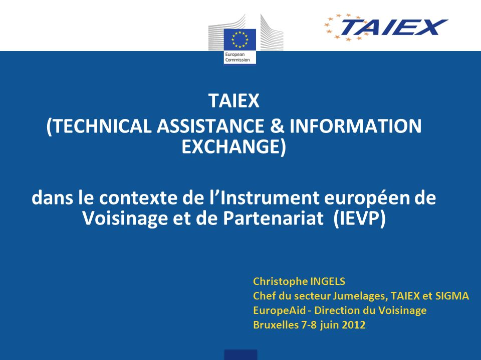 (TECHNICAL ASSISTANCE & INFORMATION EXCHANGE)