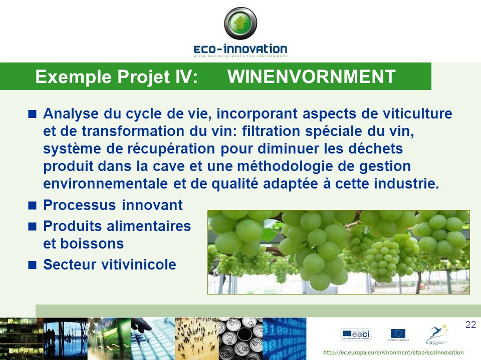 Exemple Projet IV: WINENVORNMENT
