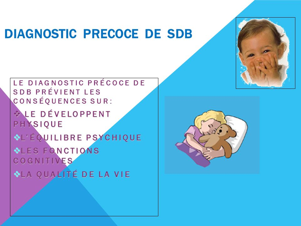 DIAGNOSTIC PRECOCE DE SDB