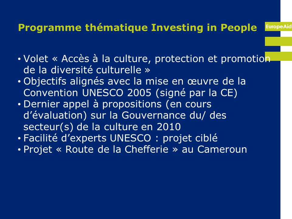 Programme thématique Investing in People