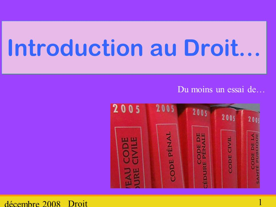 Introduction au Droit…
