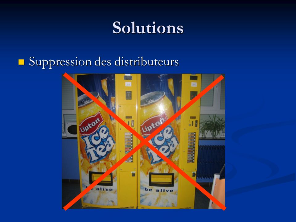Solutions Suppression des distributeurs