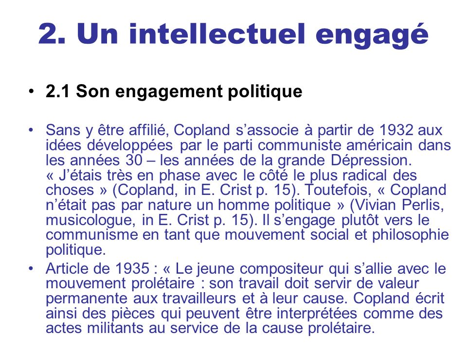 2. Un intellectuel engagé