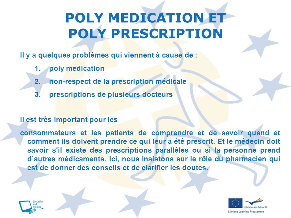 POLY MEDICATION ET POLY PRESCRIPTION