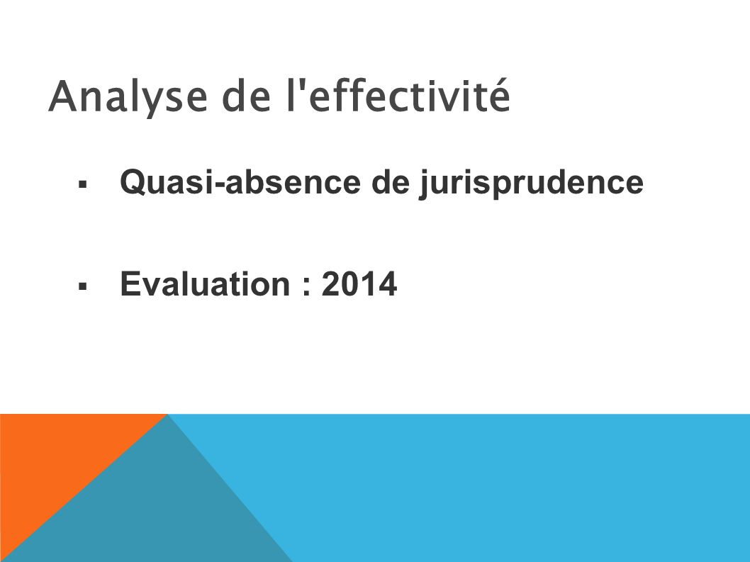Analyse de l effectivité