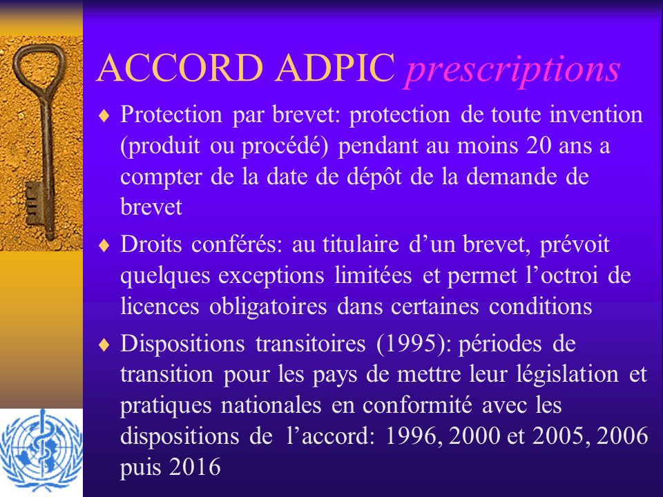 ACCORD ADPIC prescriptions