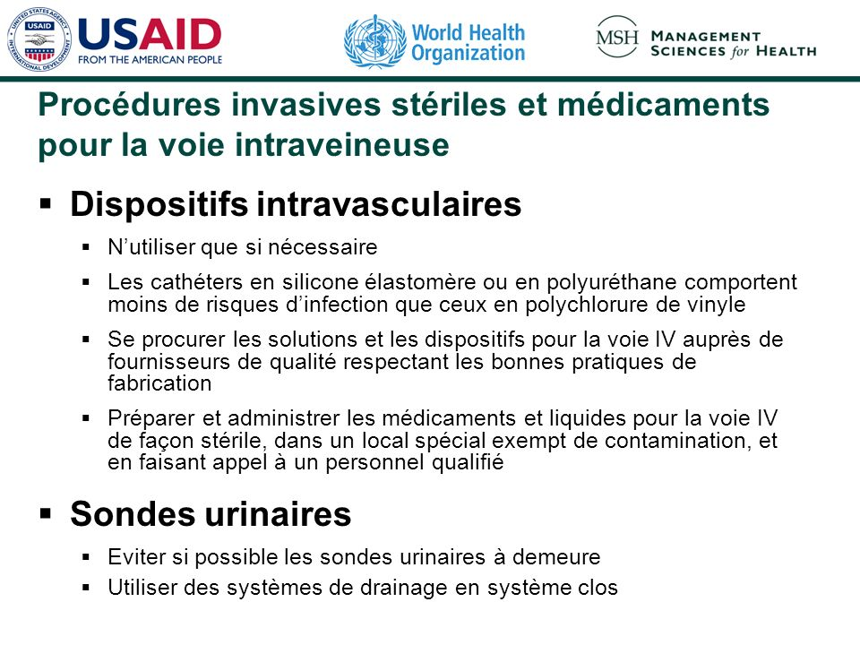 Dispositifs intravasculaires