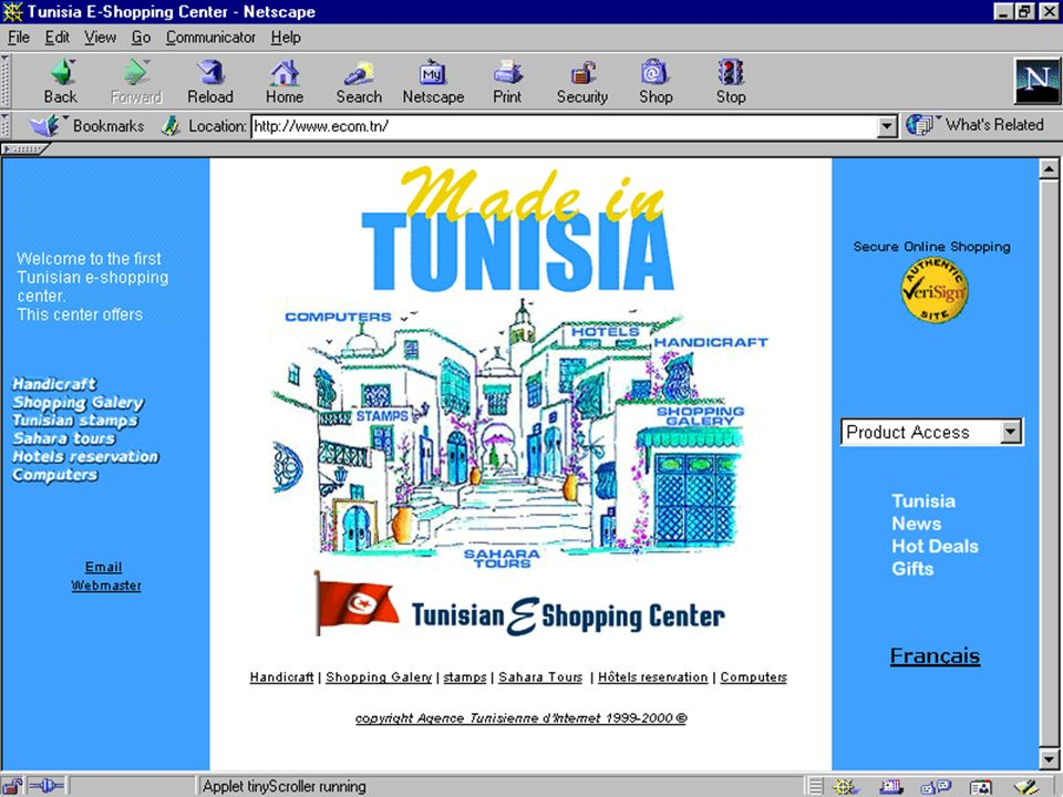 Agence Tunisienne d'Internet 19/03/2001
