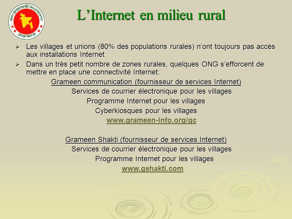 L'Internet en milieu rural