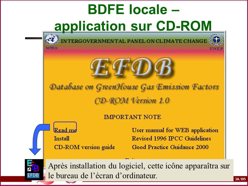BDFE locale – application sur CD-ROM