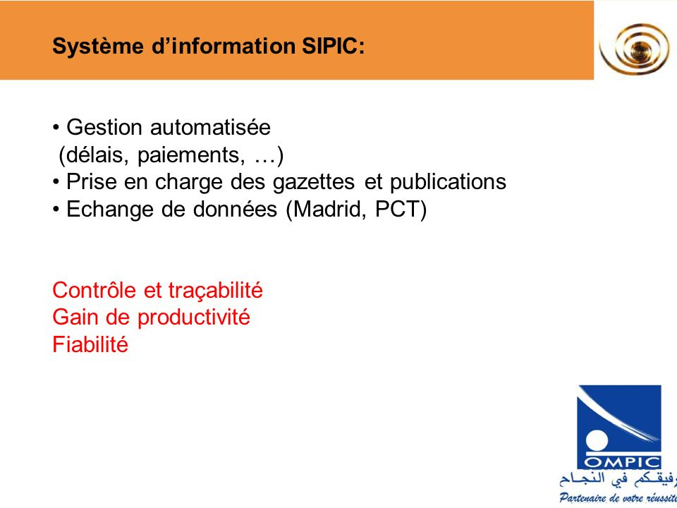Système d'information SIPIC: