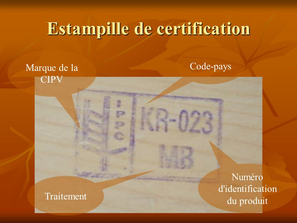 Estampille de certification
