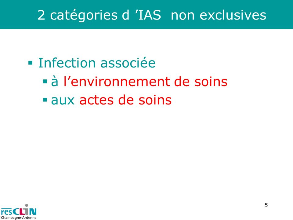 2 catégories d 'IAS non exclusives