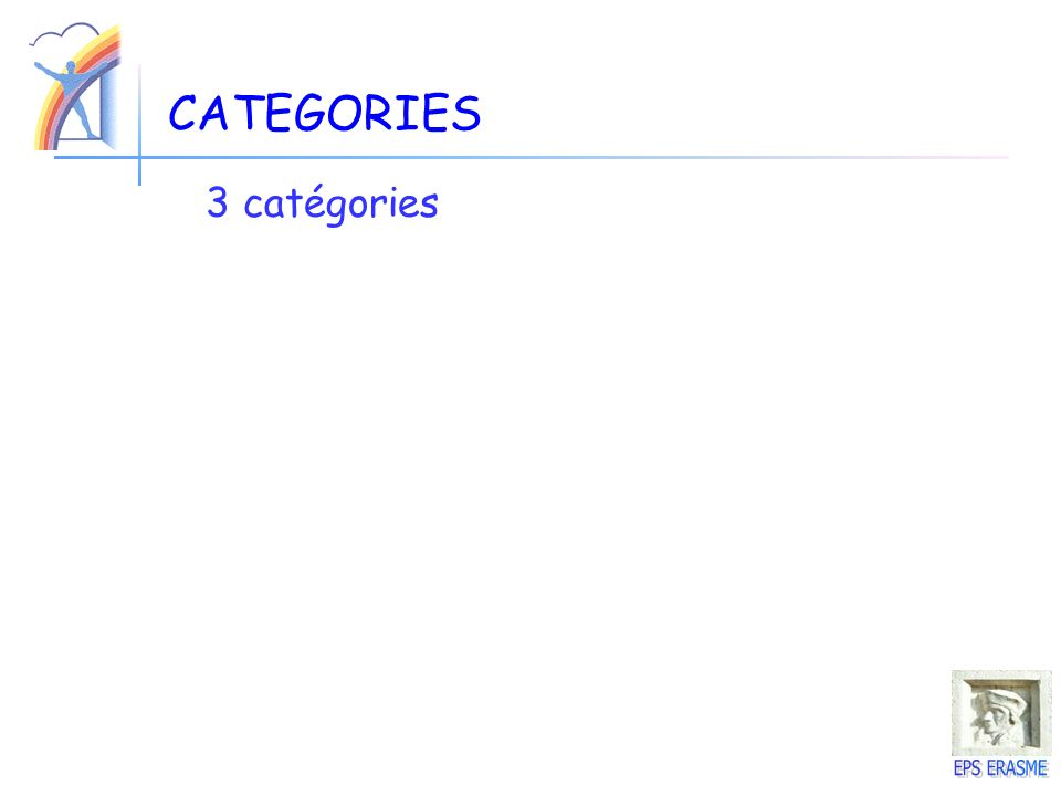 CATEGORIES 3 catégories