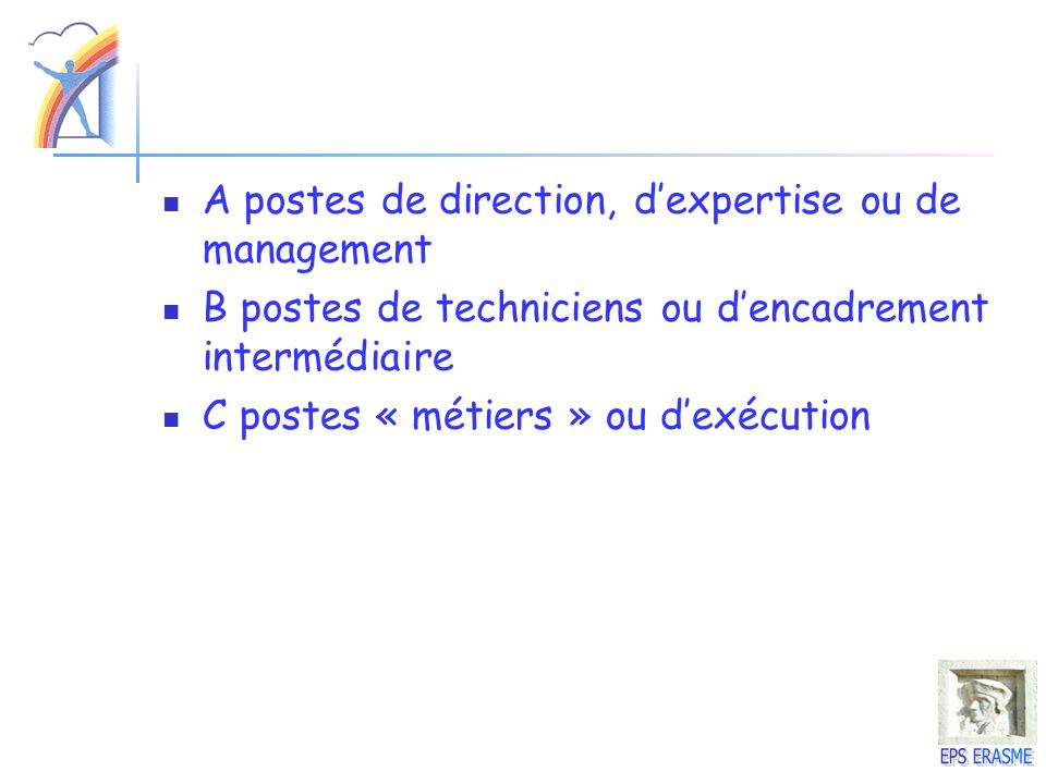 A postes de direction, d'expertise ou de management