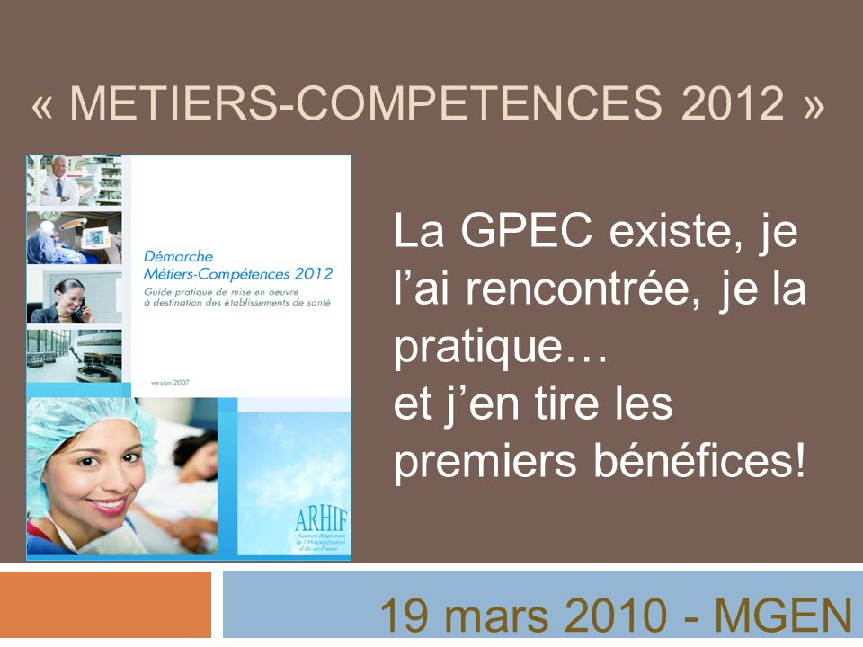 « METIERS-COMPETENCES 2012 »