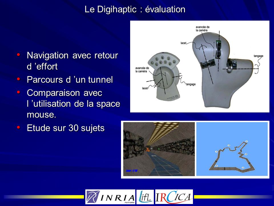 Le Digihaptic : évaluation