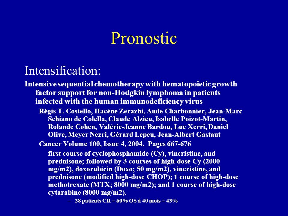 Pronostic Intensification: